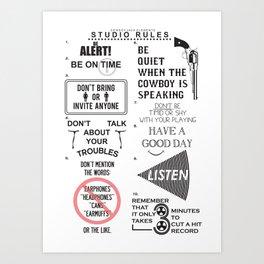 Studio Rules Art Print
