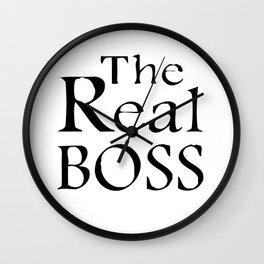 The real boss Wall Clock