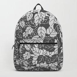 Japanese Leaf Print, Light and Dark Gray / Grey Backpack