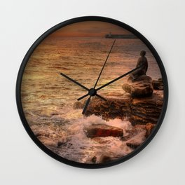 Folkestone At Sunrise Wall Clock