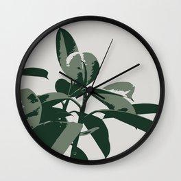 Retro House Plant Wall Clock