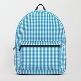 Oktoberfest Bavarian Blue and White Small Gingham Check Backpack
