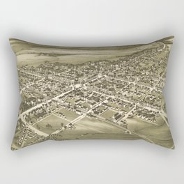 Vintage Pictorial Map of Gettysburg PA (1888) Rectangular Pillow