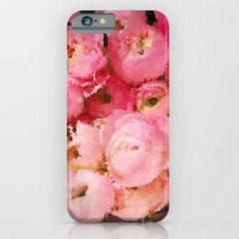 Persian Buttercup Floral Low Poly Geometric Triangles iPhone Case