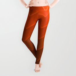 Gradient Orange Zig-Zags Leggings