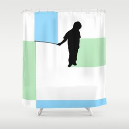 Fishing for Color Shower Curtain
