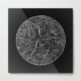 Inverted Waves Metal Print