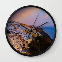 Santorini,Greece Wall Clock