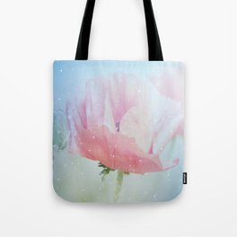 Snowflakes Poppies Tote Bag