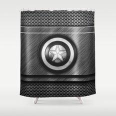 Dark Steel Shower Curtain