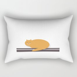 Happy Cat Nap Rectangular Pillow