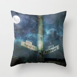Haight Ashbury Vibes Throw Pillow