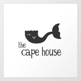 The Cape House - Cape Cod Mermaid Art Print