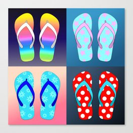 Flip Flop Pop Art Canvas Print