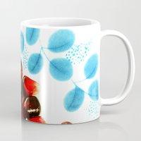 pomegranate Mugs featuring Pomegranate by Yilan