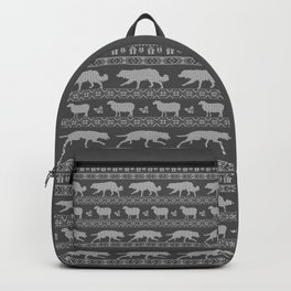 Ugly christmas sweater | Border collie grey Backpack