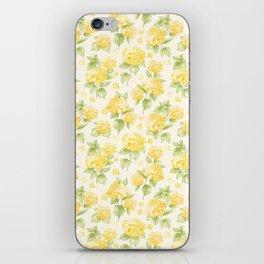 Modern  sunshine yellow green hortensia flowers iPhone Skin
