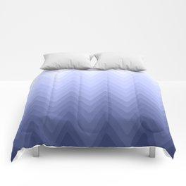 Zigzag. White, blue, dark blue Ombre. Comforters