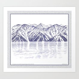 TURNAGAIN ARM AND THE CHUGACH RANGE ON THE COOK INLET ALASKA Art Print