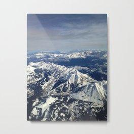 Alpes en avion Metal Print
