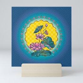 Peranakan Lotus Mini Art Print