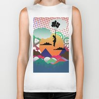 collage Biker Tanks featuring collage by mark ashkenazi