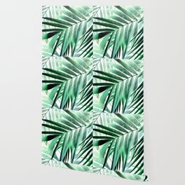 Tropical green leaves design Wallpaper