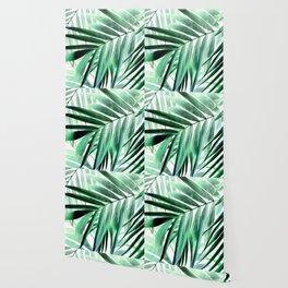 Tropical green leaves design Wallpaper