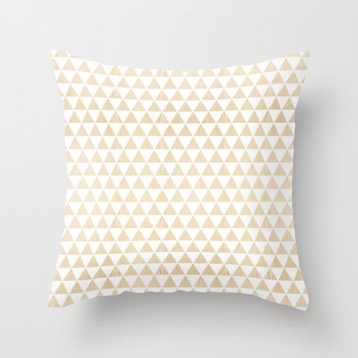 triangle white oak Throw Pillow