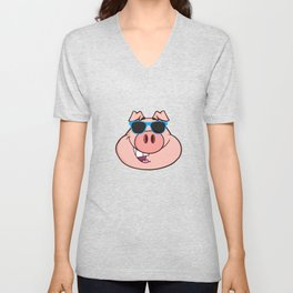 Cool Piggy Pig Unisex V-Neck