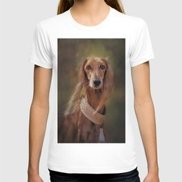 Saluki Portrait Of The Ancient Hound T-shirt