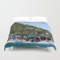 philippines Duvet Covers featuring Apo Island Philippines by Jennifer Stinson