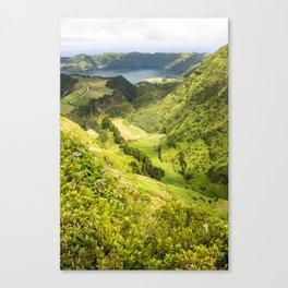 lime green landscape Canvas Print