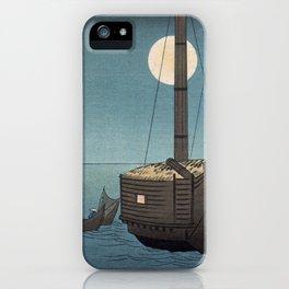 TIR-FA-Japan Print - Fūkeiga - Night Time Japanese Fishermen iPhone Case