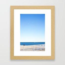 Coney Island blues Framed Art Print