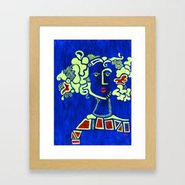 Lady Blue Framed Art Print