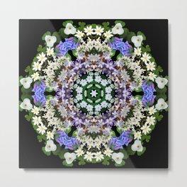 Spring wildflower mandala 1 Metal Print