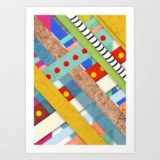 Geometric Architecture Striped Art Print