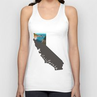 big sur Tank Tops featuring California: Big Sur by Brooke Loeffler