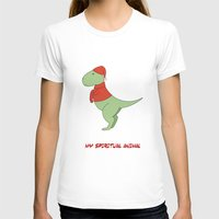 trex T-shirts featuring trex dinosaur funny arms by captainkittyspa