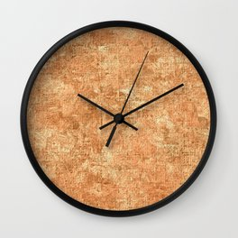 Peach Cobbler Oil Painting Color Accent Wall Clock