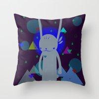 scott pilgrim Throw Pillows featuring PILGRIM 순례자  by PAUL PiERROt
