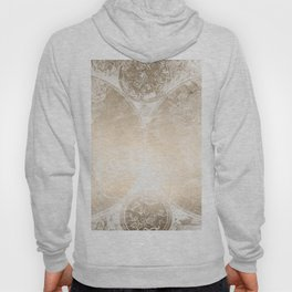 Antique World Map White Gold Hoody