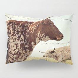 Texas Longhorn Cattle Pillow Sham