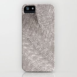 Sparkling metallic textile background iPhone Case