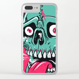 Triple Eyed Dumps Skull Clear iPhone Case