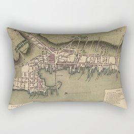 Vintage Map of Newport Rhode Island (1777) Rectangular Pillow