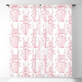 Beetles in Pink Blackout Curtain