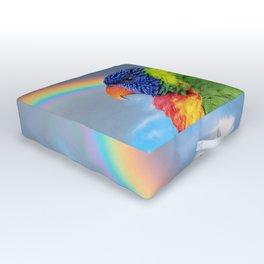 Rainbow Lorikeet Outdoor Floor Cushion