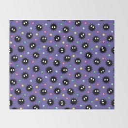 Soot Sprites (Purple) Throw Blanket